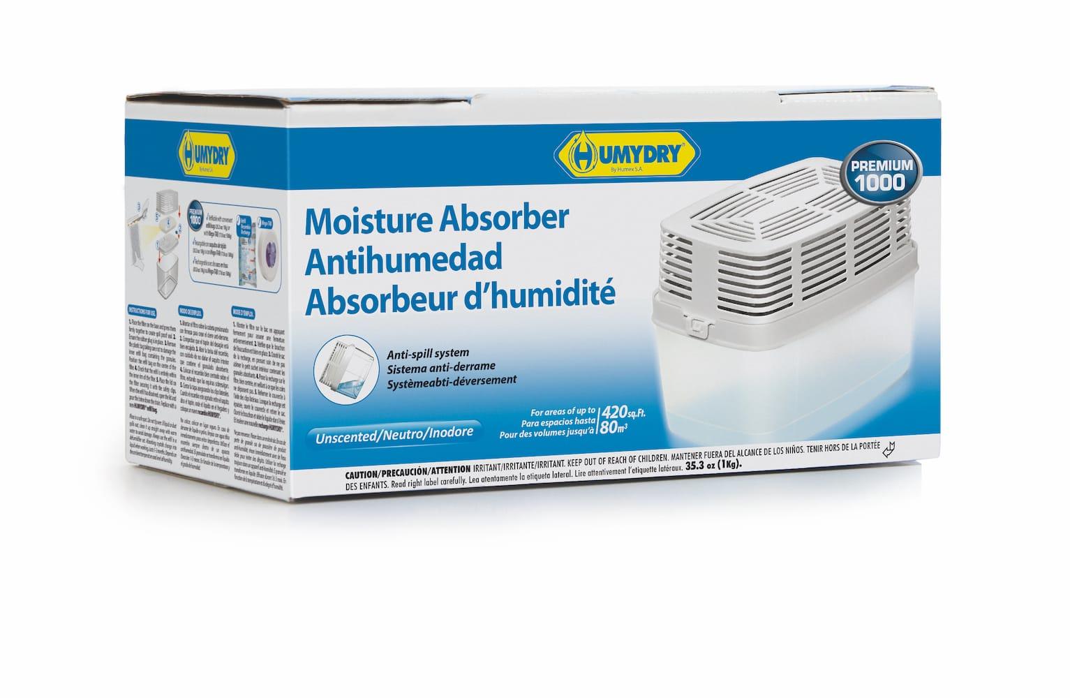 Air et D/éshumidificateur humydry Premium 450g 3er Pack de recharge 3x450g