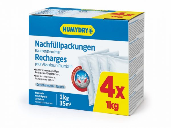 HUMYDRY® MOISTURE ABSORBER REFILLS 4X1kg